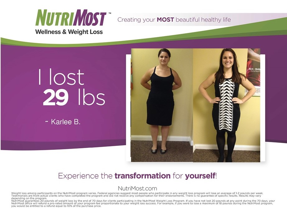 Nutrimost Weight Loss Results